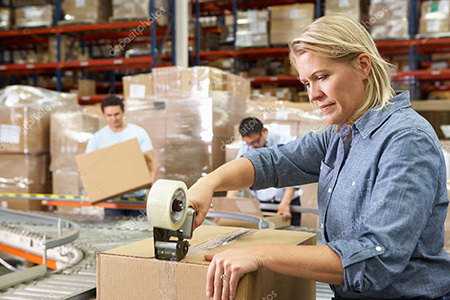 depositphotos 25045665 stock photo workers in distribution warehouse